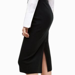 Aritzia Babaton Johan Black Long Skirt